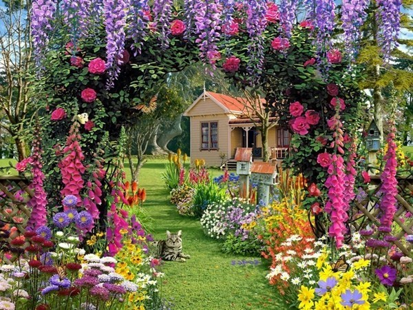 Inspiring Idea To Build Garden Gate Itself