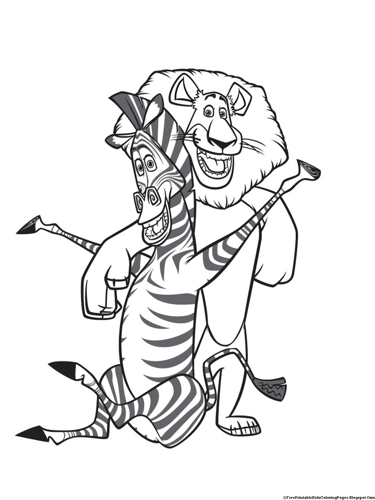 Zebra Coloring Pages Free Printable