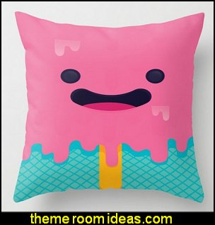 cupcakes bedroom ideas   Icecream Throw Pillow  candy bedding sweets bedroom ideas