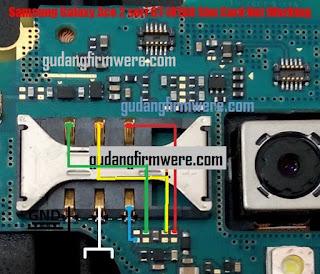 Jalur Jumper Sim Card Samsung Galaxy Ace 2 GT-I8160 ( Trick Jumper )
