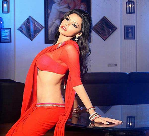 sherlyn-chopra-in-red-sari