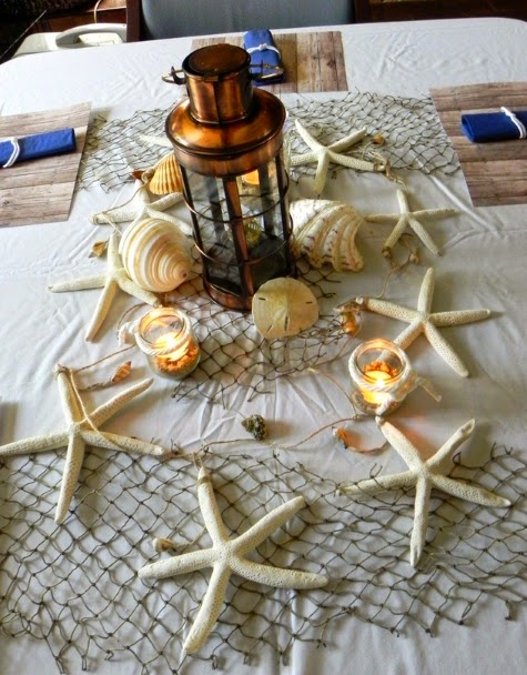 Nautical Candle Centerpiece