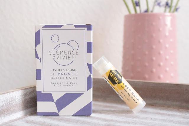 savon surgras clémence & vivien + baume à lèvre bee natural