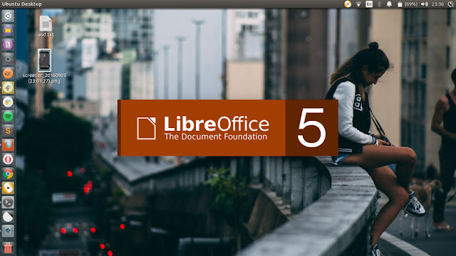 LibreOffice Splash Screen Orange Based Color