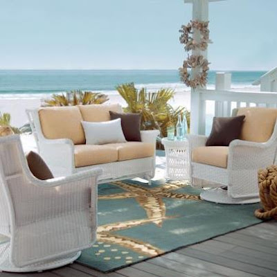 coastal starfish rug outdoor decor idea