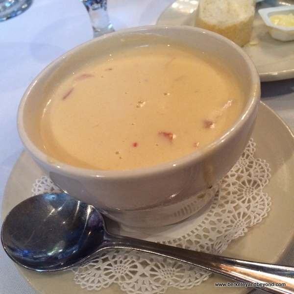 shrimp bisque at Pujo Street Cafe in Lake Charles, Louisiana