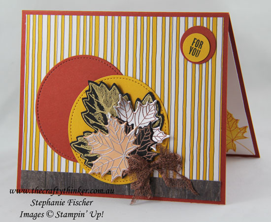 Colorful Seasons Bundle, Vintage Leaves, Masculine card, #thecraftythinker, Stampin' Up Australia Demonstrator, Stephanie Fischer, Sydney NSW