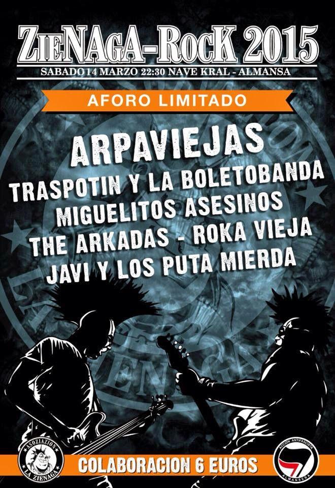 Concierto Arpaviejas en Almansa, Nave Kral