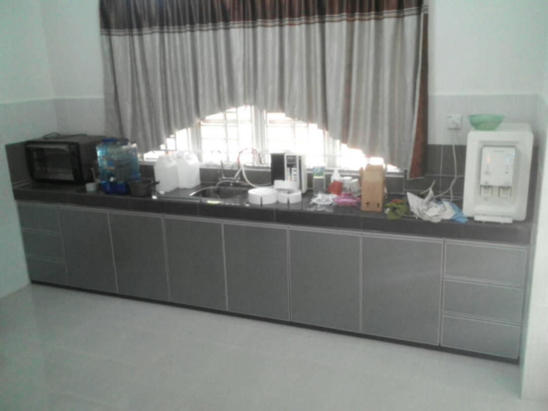 Untuk Set Kedua Kabinet Dapur Bawah Sahaja Menggunakan Material 3g Gl Silver