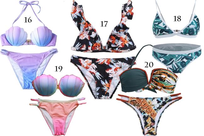 日本人ファッションブロガー,WISH LISTほしい物リスト-swim wear水着,bikiniビキニ,monokiniモノキニ,one pieceワンピース, Bandeau bikinisバンドゥビキニ,sporty bikiniスポーティーハイネックビキニ,Crochet bikini クロシェビキニfrom Rosegal