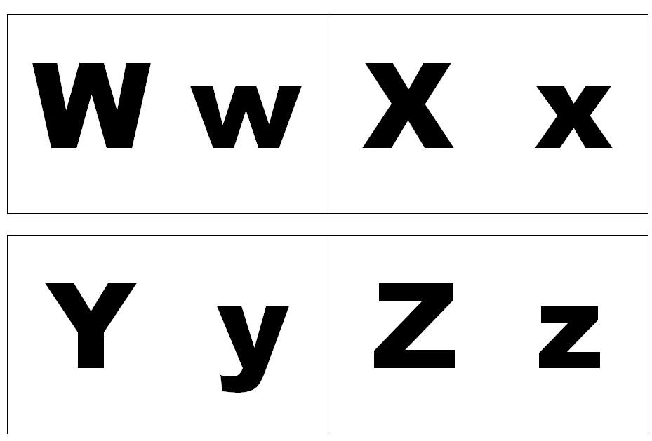 W X Y Z
