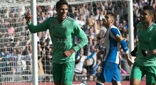 ريال مدريد يفوز على فريق اسبانيول بهدفين بدون رد ويعتلي صدارة الدوري الاسباني