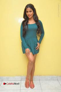 Telugu Actress Prasanthi Stills in Green Short Dress at Swachh Hyderabad Cricket Press Meet  0117.JPG