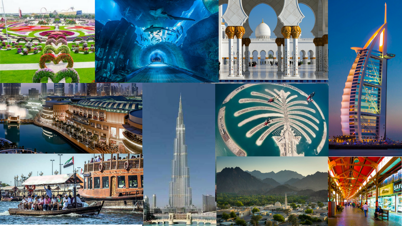 Top 10 tourist attractions uae | Dubai famous places 2019 - Fujmix