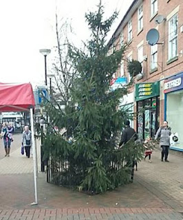 Christmas tree in Chorley by Marc Bazeley