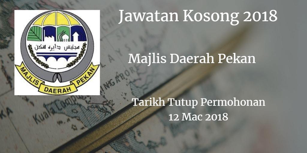 Jawatan Kosong MDP 12 Mac 2018