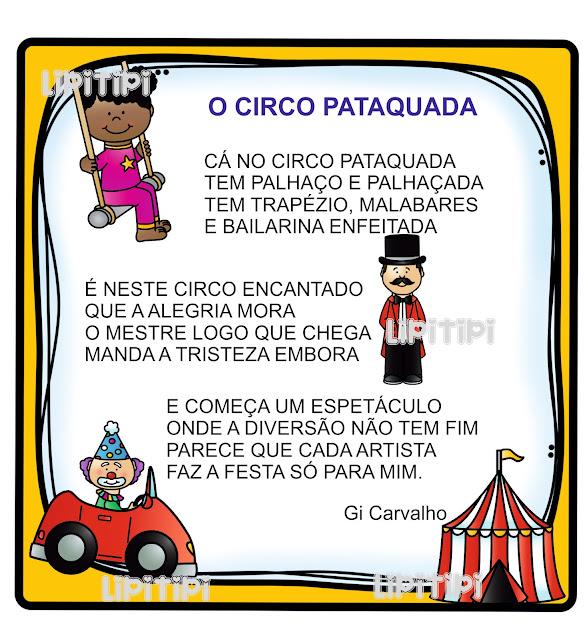 Dia do circo - Texto pequeno para criação de atividades de alfabetização e educação infantil