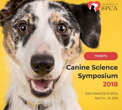 Early bird tickets through February 28th! Canine Science Symposium April 14-15, 2018 in San Fransisco