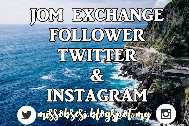 Segmen Jom Exchange Follower Twitter dan Instagram