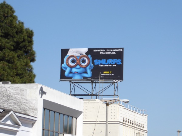 Smurfs Lost Village billboard