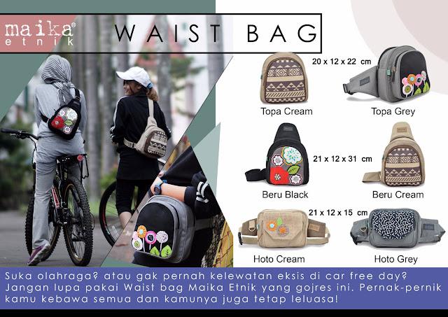 waist bag, waist bag wanita, tas maika etnik, agen maika