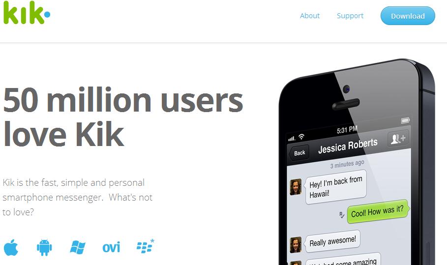 Kik Messener WhatsApp Alternative