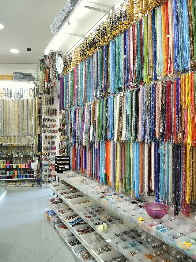 bead shops in via nolana in Napoli Italy