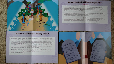 moses and the desert story cards