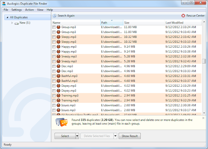Auslogics Duplicate File Finder 6.0 - Διαγράψτε τα διπλά αρχεία του υπολογιστή σας