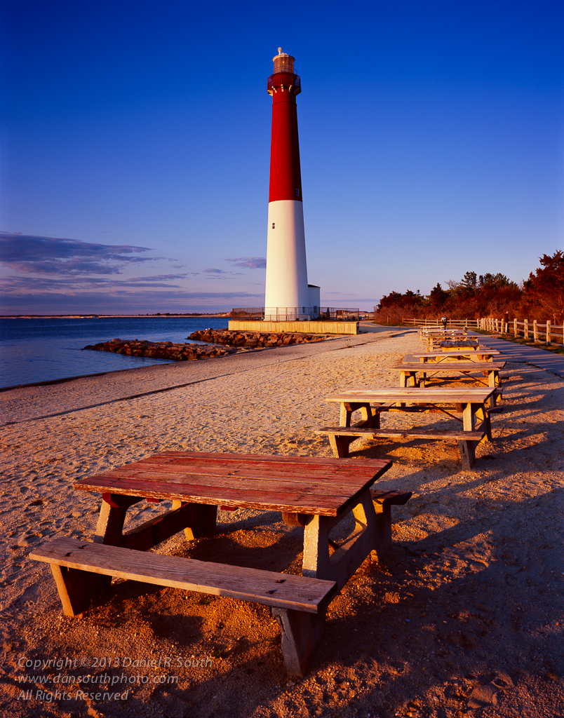 a photo of the barnegat light lighthouse on long beach island new jersey by Daniel South
