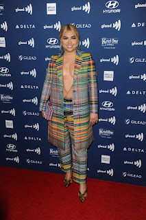 Hayley Kiyoko at 2019 Glaad Media Awards in Beverly Hills