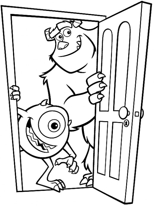 Fun Coloring Pages: Monster Inc Coloring Pages