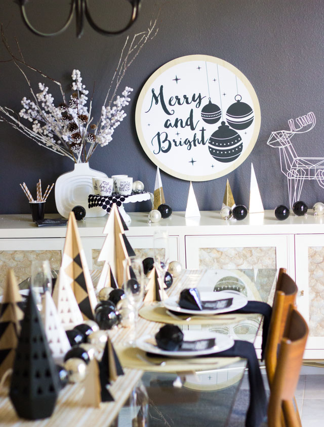 Love this modern Merry and Bright sign from At Home stores!
