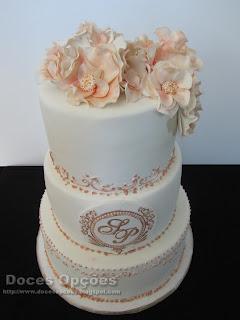 bolo casamento doces opções