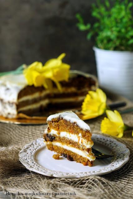 tort, marchewka, bez glutenu, bezglutenowy, ciasto, bernika, kulinarny pamietnik, marchewkowe
