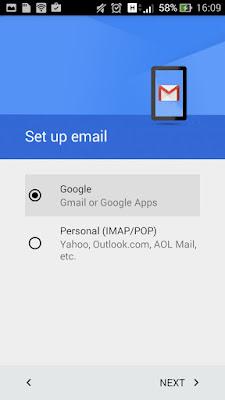 pembuatan akun gmail di android
