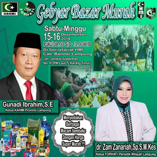 KAHMI Lampung Gelar Bazar Murah