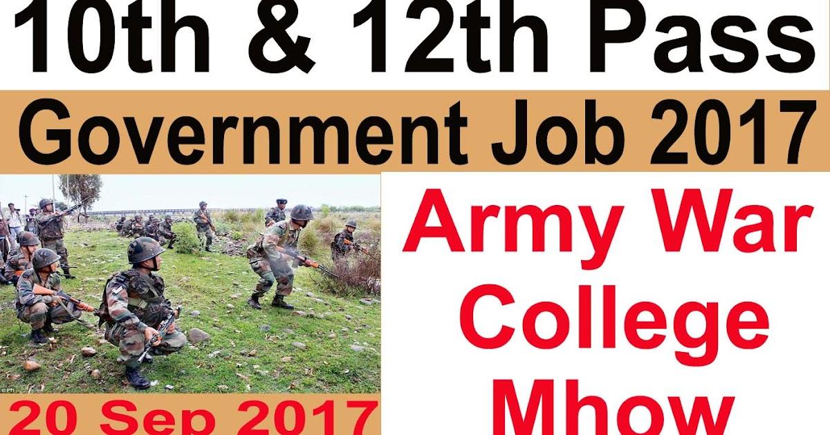 Army%2BWar%2BCollege%2Brecruitment%2B2017%2B  Th P Govt Job Online Form on
