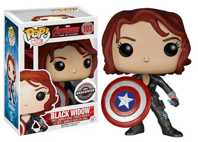 GameStop Exclusive Avengers: Age of Ultron Black Widow with Captain America's Shield Pop! Marvel Vinyl Figure by Funko