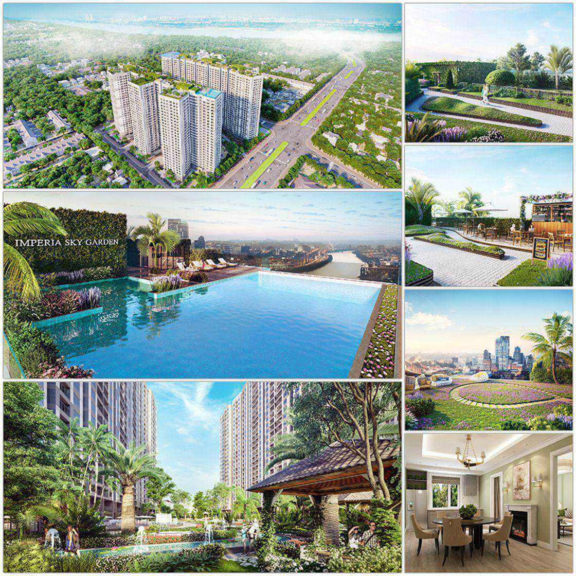 Hệ thống tiện ích dự án chung cư Imperia Sky Garden 423 Minh Khai