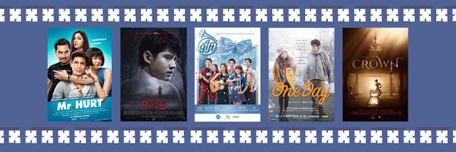 Thai films including, A Gift, Mr. Hurt, One Day, Take Me Home, and The Crown