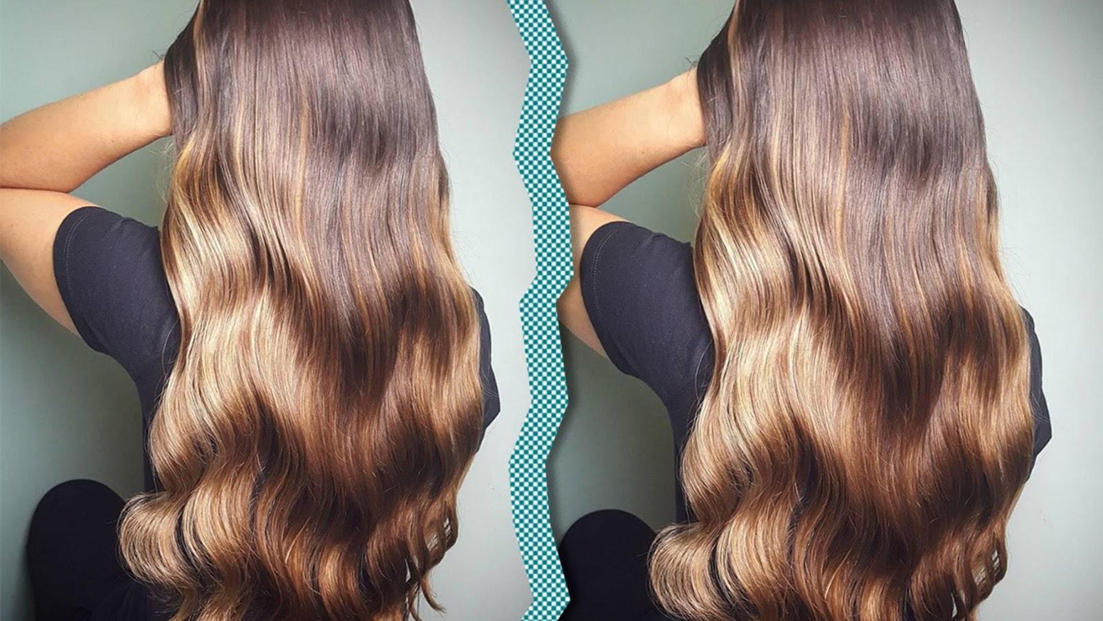 Haare werden 2018 mit der Foilyage-Technik gefärbt