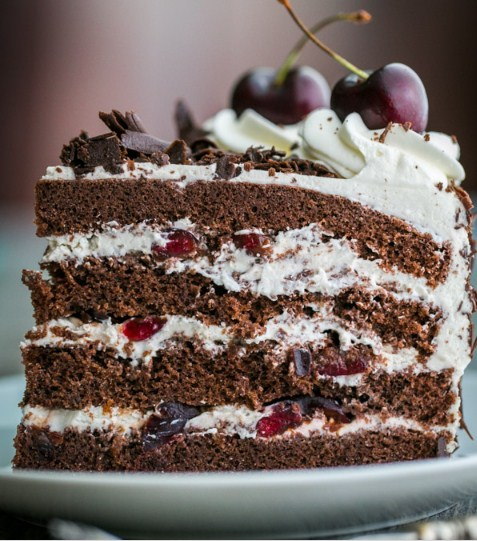 how to make black forest cake at home without egg