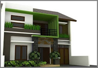 rumah minimalis 2 lantai type 36 pojok