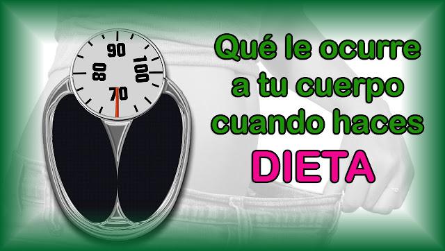 Qué le ocurre a tu cuerpo cuando haces dieta