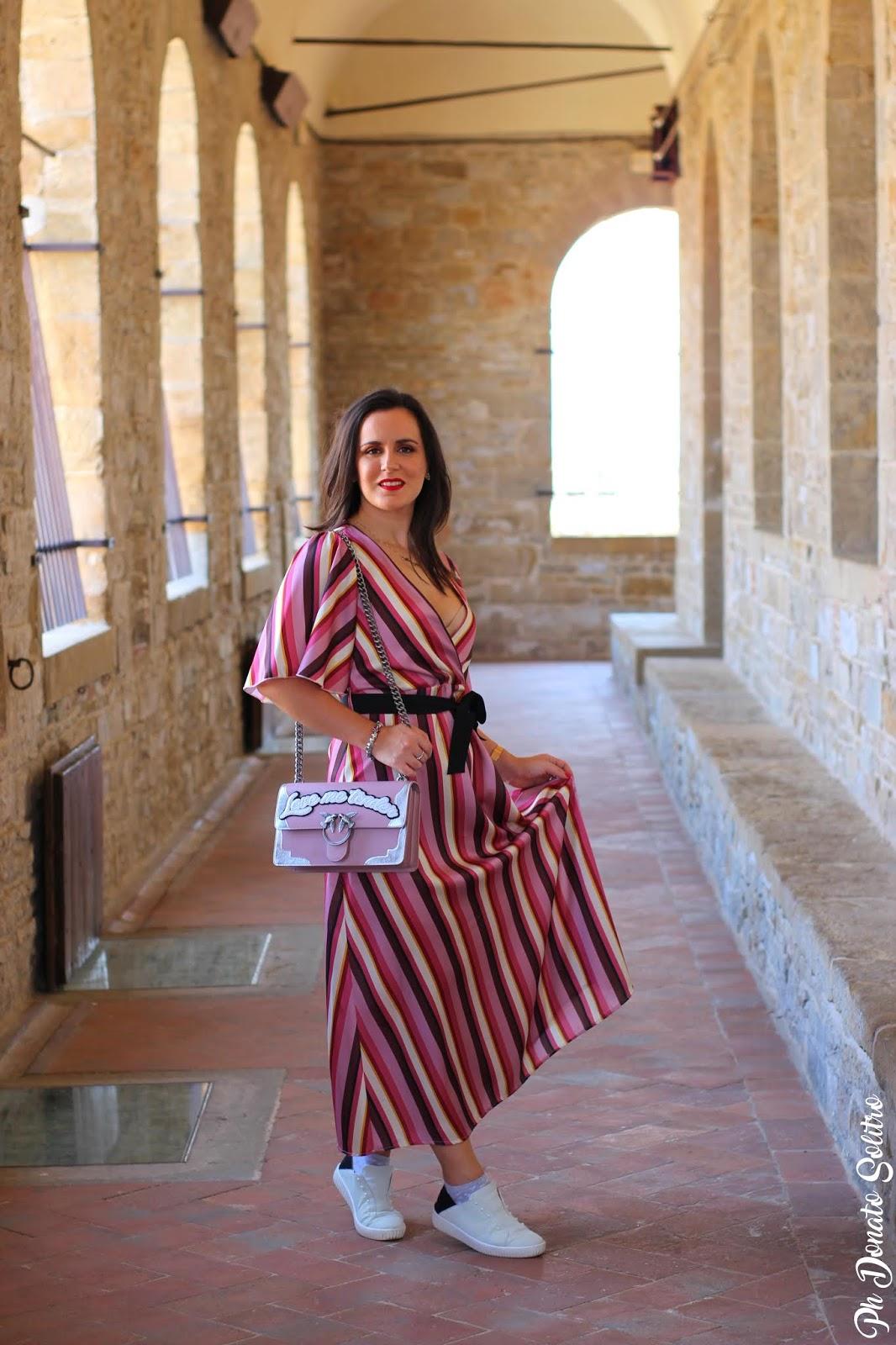 abito lungo a righe fashion blogger