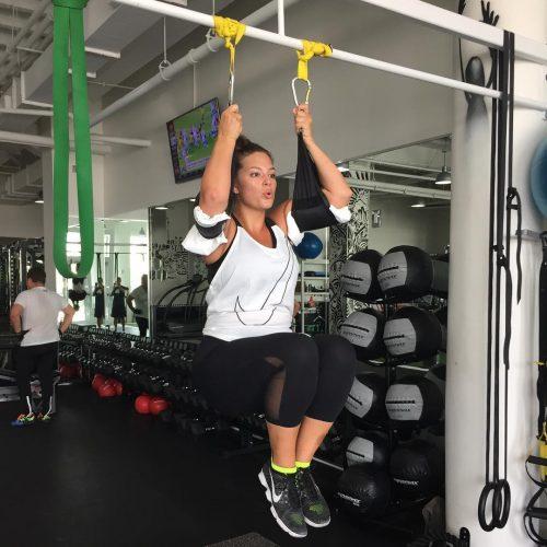 Ashley Graham Workout at Gym