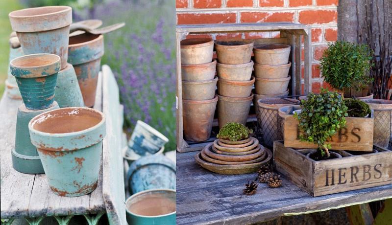 Recicla tus tiestos viejos 10 ideas para dar vida al - Decorar terrazas reciclando ...