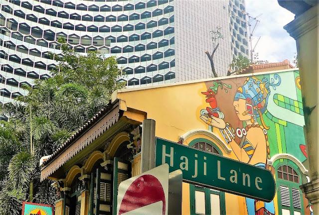Var finns gatukonst i Singapore?