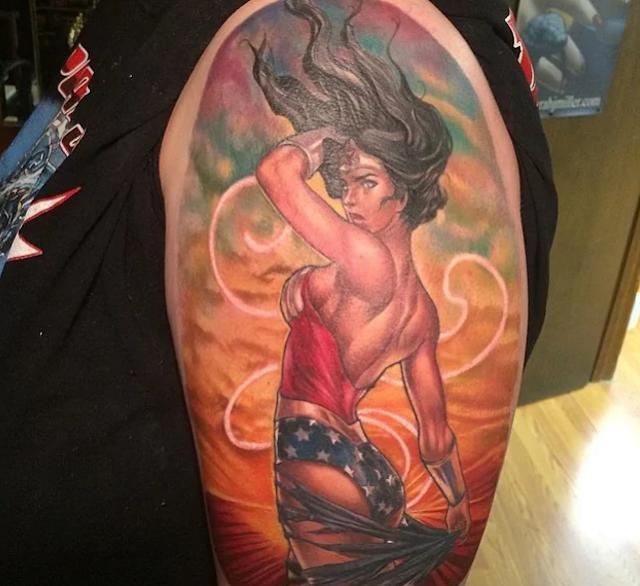 Wonder woman tattoo design woman tattoo design for Wonder woman temporary tattoo
